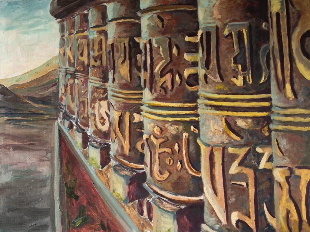 Молитвенные барабаны. Непал